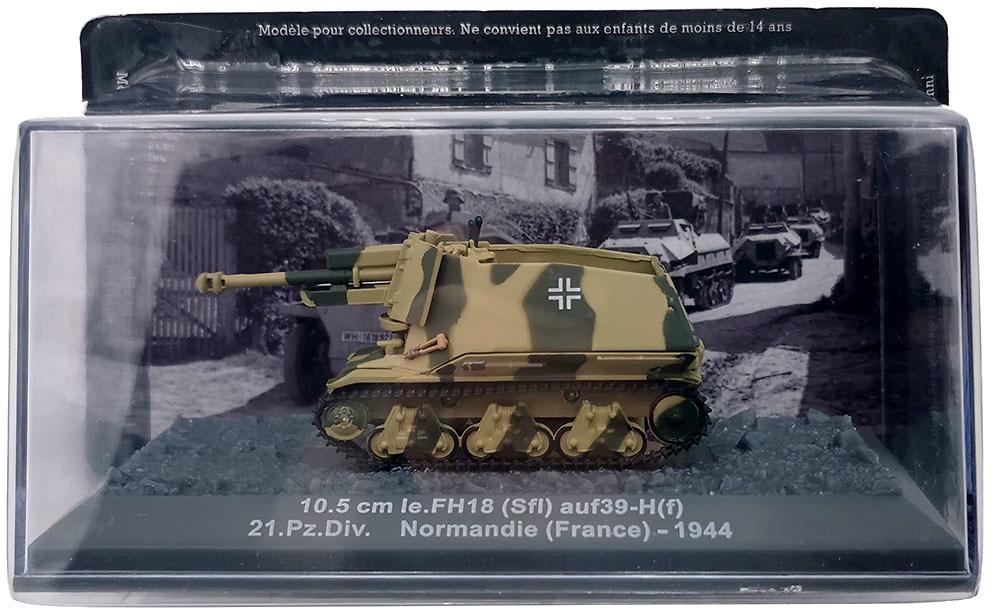 10.5 cm Ie.FH18 (Sfi) ausf39-H(f) 21.Pz.Div. Normandia, 1944, 1:72, Altaya