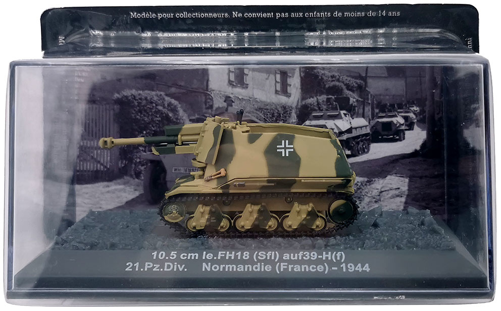 10.5 cm Ie.FH18 (Sfi) ausf39-H(f) 21.Pz.Div. Normandie, 1944, 1:72, Altaya
