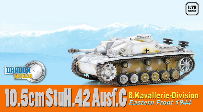 10.5cm StuH.42 Ausf.G, 8.Kavallerie-Division, Eastern Front, 1944, 1:72, Dragon Armor