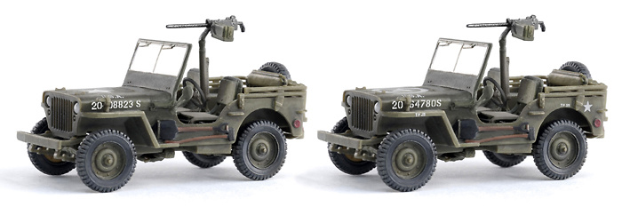1/4 Ton 4x4 Truck w/.30 cal Machine Gun (Twin Pack), 1:72, Dragon Armor