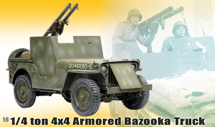 1/4 ton 4x4 Armored Bazooka Truck, 1:6, Cyber Hobbyes