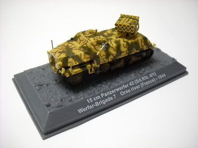 15 cm Panzerwerfer 42 (Sd.kfz.4/1) Werfer-Brigade 7 Orne river, France, 1944, 1:72, Altaya