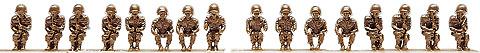 16 Soldados sentados US/NATO/BW, 1:87, Minitanks