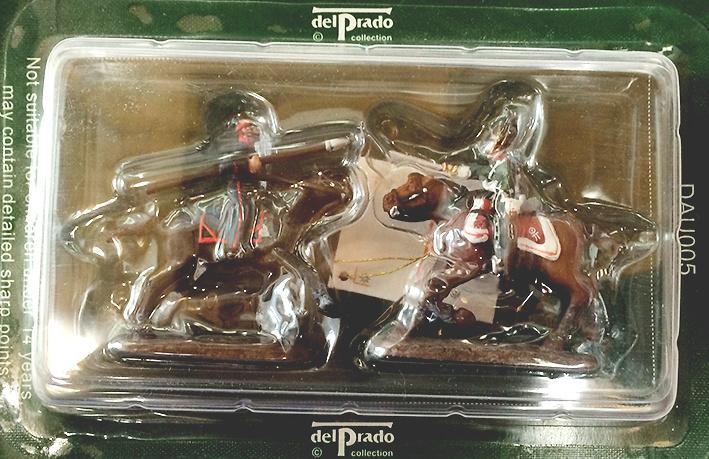 2 Soldados de caballería (lanza y espada), 1:60, Del Prado
