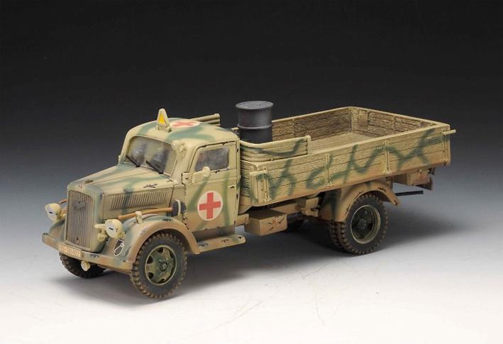 3 Ton, camión sanitario alemán, 1st Leibstandarte, Normandía, 1944, 1:30, Thomas Gunn