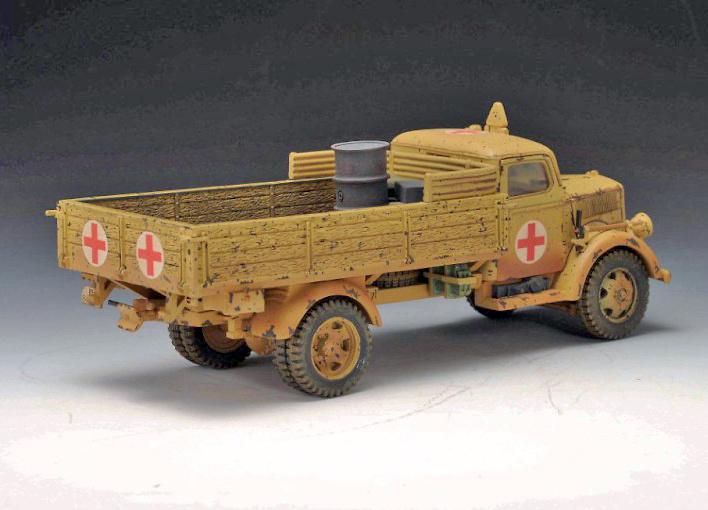 3 Ton, camión sanitario alemán, Campaña del Norte de África, 1940-43, 1:30, Thomas Gunn