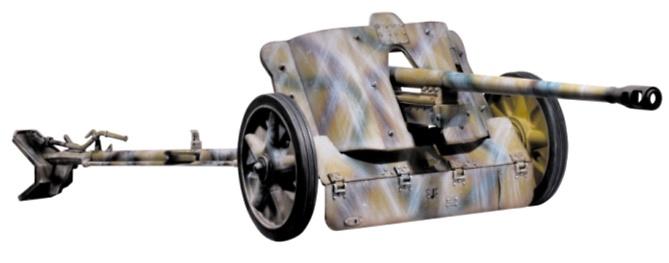 5cm Pak 38-Winter Camo, German WWII, 1:6, Dragon Figures