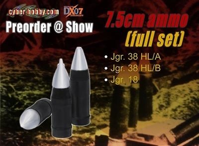 7.5cm Ammo, Full Set, 1:6, Dragon Figures