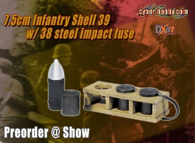 7.5cm Infantry Shell 39 w/38 Steel Impact Fuse, 1:6, Dragon Figures