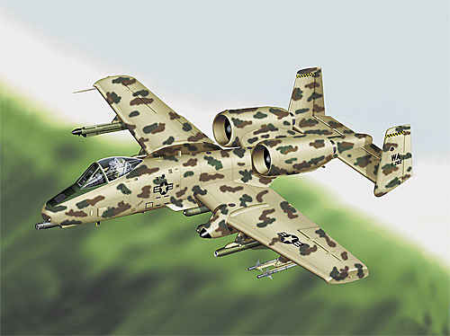 A-10 WARTHOG USAF JAWS, 1:48,Franklin Mint