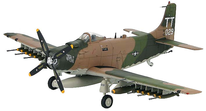A-1J Skyraider 602nd Special Operations Sqn., 56th Special Operations Wing, 1:72, Hobby Master