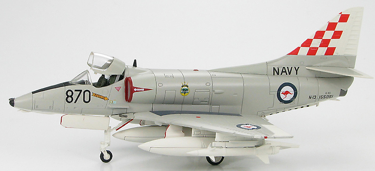 A-4G No.805 Sqn., HMAS Melbourne, Royal Australian Navy, June 1977, 1:72, Hobby Master