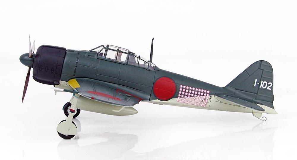 A6M2 Zero Fighter Type 21, 201st Naval Flying Group, piloto Tetsunzo Iwamoto, Rabaul, Noviembre, 1943, 1:48, Hobby Master