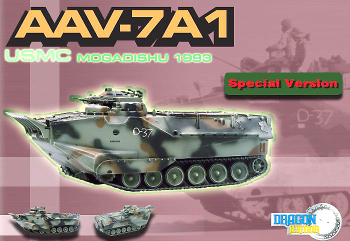 AAV7A1, USMC, Mogadiscio, 1993, 1:72, Dragon Armor