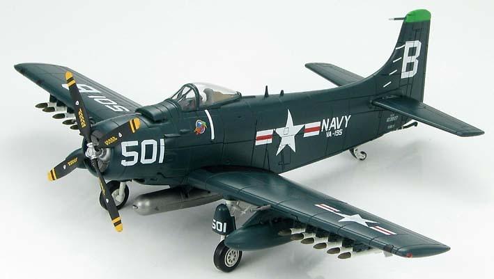 AD-4 Skyraider BuNo123827, VA-195 Dambusters, 1950s, 1:72, Hobby Master