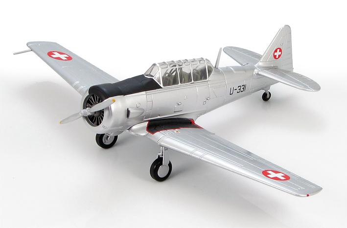 AT-16 Harvard U-331, Swiss Air Force, 1960s, 1:72, Hobby Master
