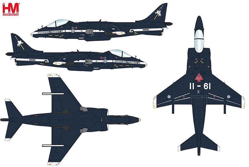 AV-8B Harrier II Plus BuNo 165006, VMA-513 NAF, El Centro, California, November 2010, 1:72, Hobby Master