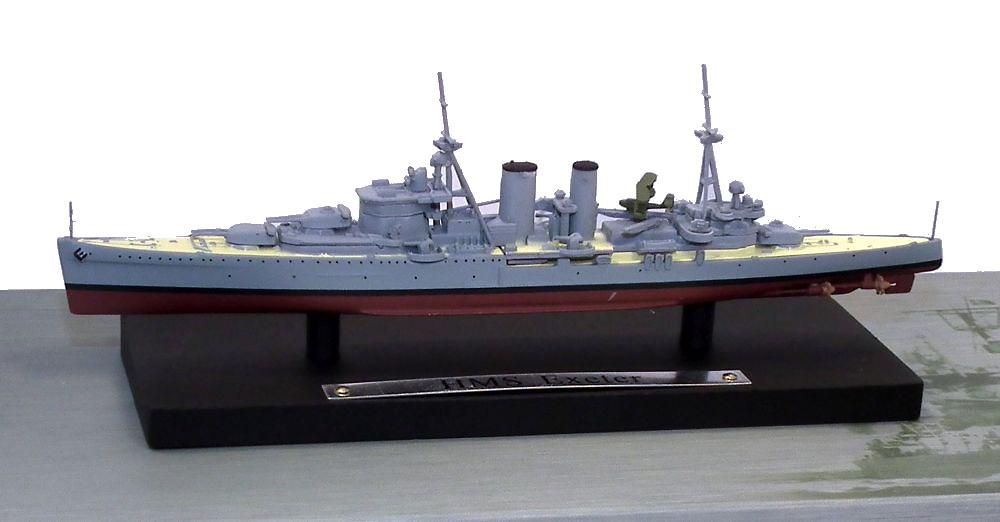 Acorazado HMS Exeter, Real Armada Británica, 1931-1942, 1:1250, Atlas