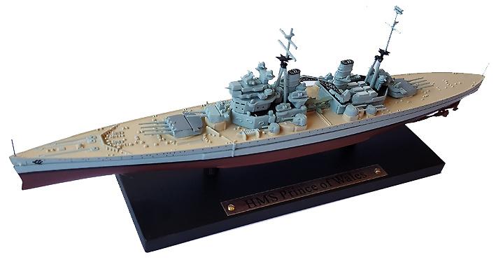 Acorazado HMS Prince of Wales, Real Armada Británica, 1939, 1:1250, Atlas