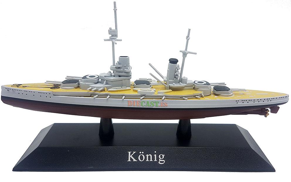 Acorazado Konig, Kaiserliche Marine, 1914, 1:1250, DeAgostini