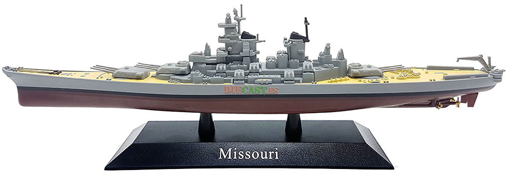 Acorazado Missouri, Armada Estadounidense, 1944, 1:1250, DeAgostini
