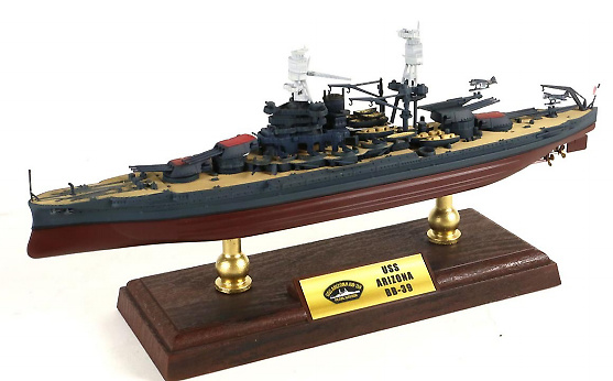 Acorazado USS Arizona BB-39, Pearl Harbour, 1941, 1:700, Forces of Valor