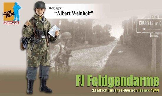 Albert Weinhold, Oberjäger, Feldgendarme, 2ª División Paracaidístas, Francia, 1944, 1:6, Dragon Figures