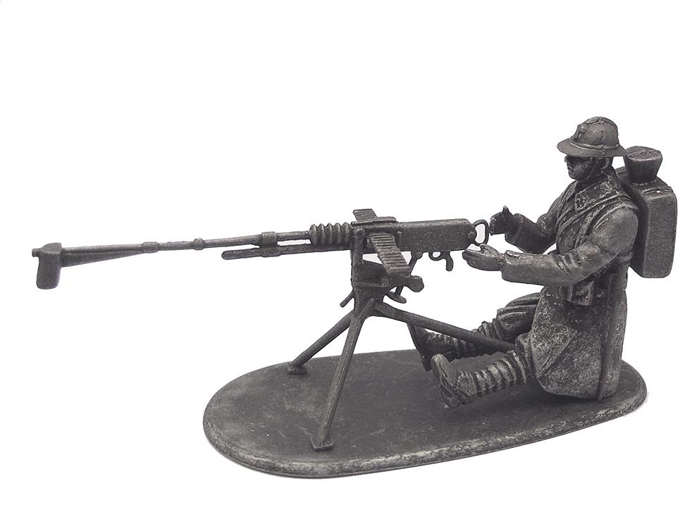 Ametrallador con Ametralladora Hotchkiss, Francia, 1918, 1:24, Atlas Editions