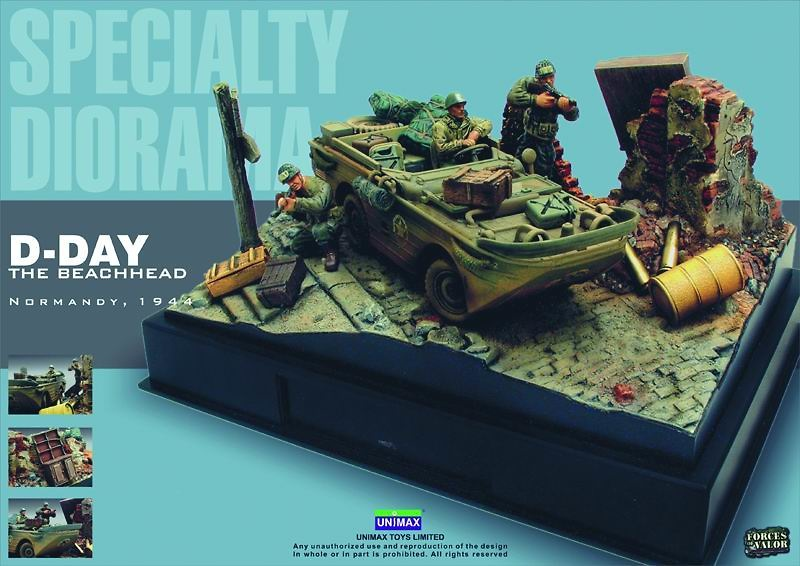 Amphibian US Army Diorama, Normandy, 1944, 1:32, Forces of Valor