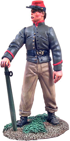 Artillería Confederada, Crewman Holding Trail Spike, 1:32, William Britains