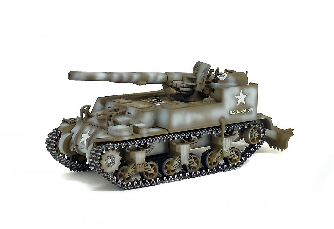 Autopropulsado GMC, M12, 155 mm, Francia, 1944, 1:72, Solido