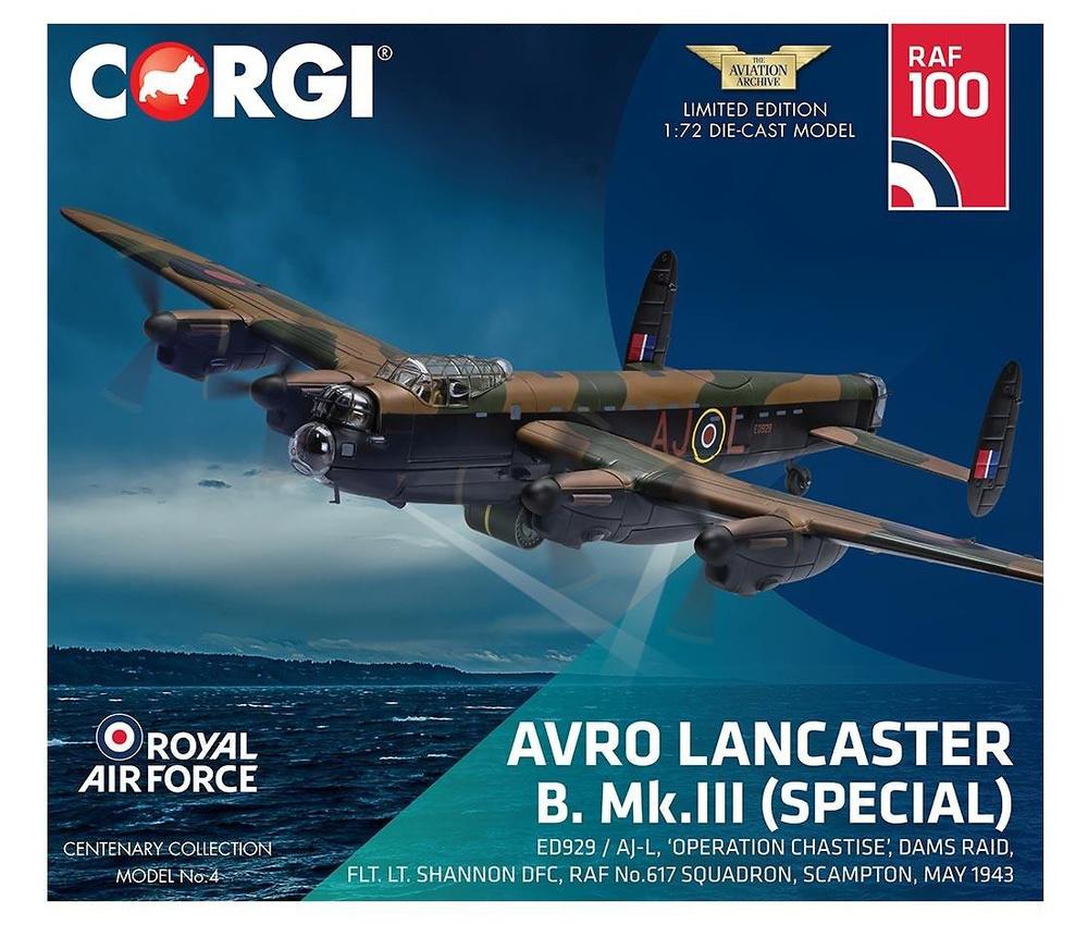 Avro Lancaster B. Mk.III (Special) ED929 / AJ-L, 'Operation Chastise', Dams Raid, 1:72, Corgi