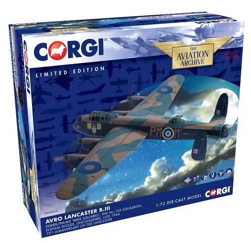 Avro Lancaster B.III, ED888/PM-M2 'Mike Squared', RAF No.103 Squadron, 1:72, Corgi