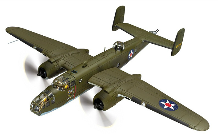 B-25B Mitchell 40-2261, 'The Ruptured Duck', Doolittle Raid, 1942, 1:72, Corgi