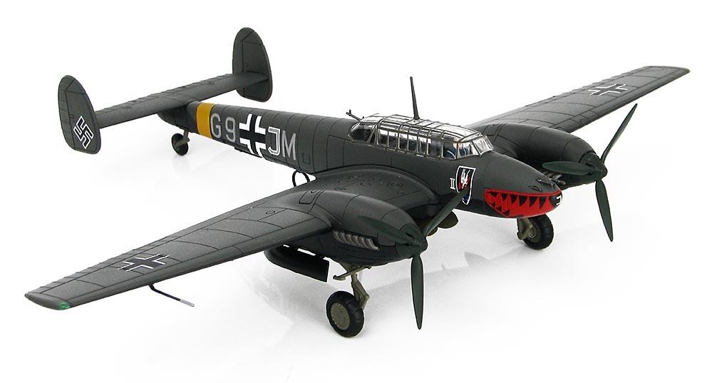 BF 110E-2, G9+JM, 4./N.JG1, Operation Donnerkeil, Francia, Febrero, 1942, 1:72, Hobby Master