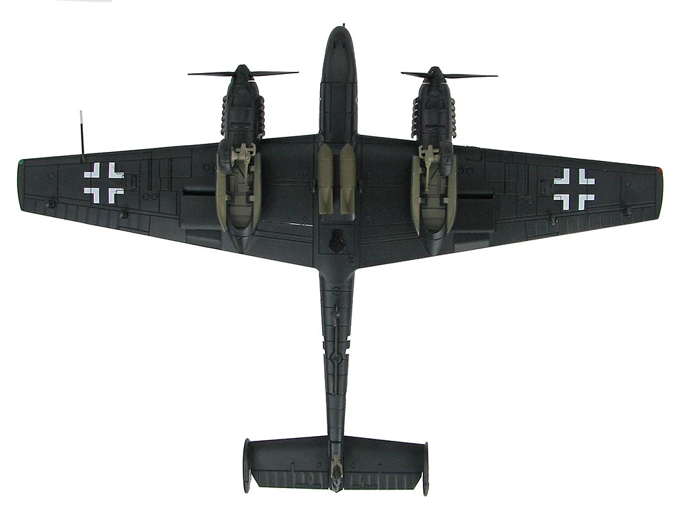 BF 110E-2 G9+BC, Oblt. Uellenbeck, II/NJG1, primavera de 1942, 1:72, Hobby Master