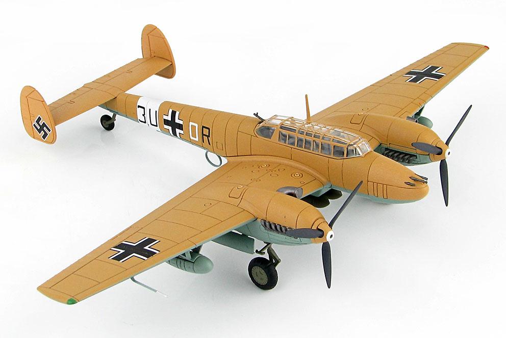 BF 110E-2 Trop 3U+OR, 7./ZG 26, Libia, 1942, 1:72, Hobby Master