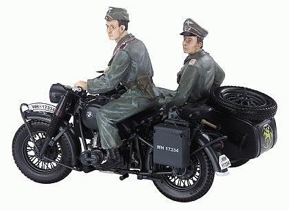 BMW R75 c/sidecar y dos soldados de la Werhmacht, 1:10, Schuco