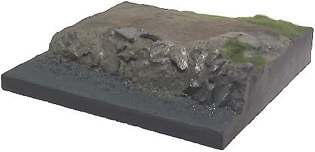 Base plana con grava de río, en plástico, para pintar, 1:72, Mark Model