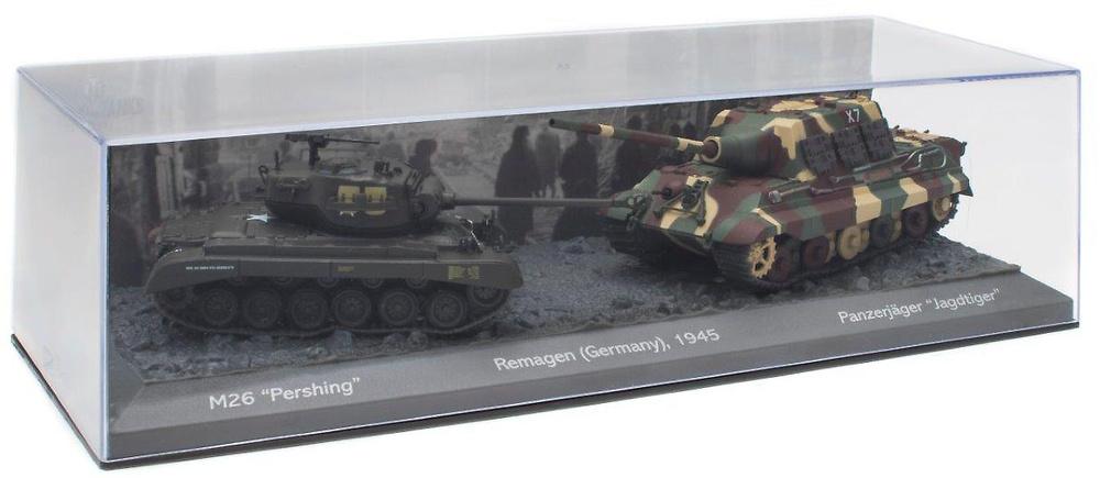 Batalla de Remagen, M26 'Pershing' + Panzerjager 'Jagdtiger', 1945, 1/72, Salvat