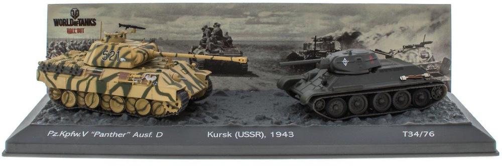 Batalla del Kursk, Pz.Kpfw. V 'Panther' Ausf. D + T34/76, 1943, 1/72, Salvat