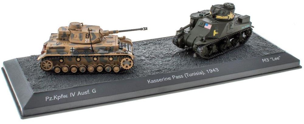 Batalla del Paso de Kasserine, Panzer IV + M3 Lee, Túnez, 1943, 1/72, Salvat