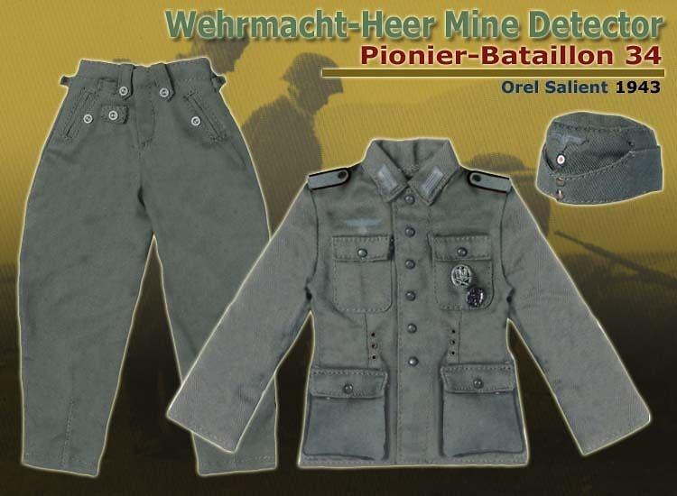 Bengt Zillmer, Detector de Minas de la Wehrmacht, Pionier-Batallion 34, Orel Salient, 1943, 1/6, Dragon Figures