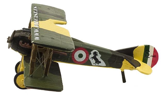 Biplano Spad XIII, piloto Francesco Baracca, 1ª Guerra Mundial, 1:72, Planeta de Agostini