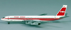 Boeing 707-320 TWA, TWIN STRIPE, 1:500, Witty Wings