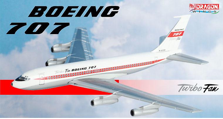 Boeing 707 Turbo Fan, N-93134, 1:400, Dragon Wings