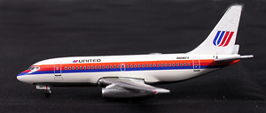 Boeing 737-200 United Airlines, Saul Bass, 1:500, Witty Wings