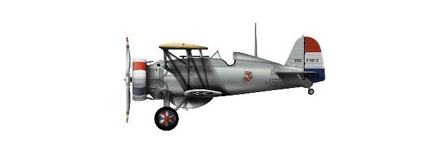 Boeing F4B-3 BuNo. A8911, Command Plane H.Q. US Marines, Washington, NAS Anacostia, 1930s, 1:48, Hobby Master