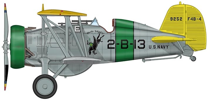Boeing F4B-4 VB-2, 2-B-13, Section Five Leader, 1930s, 1:48, Hobby Master