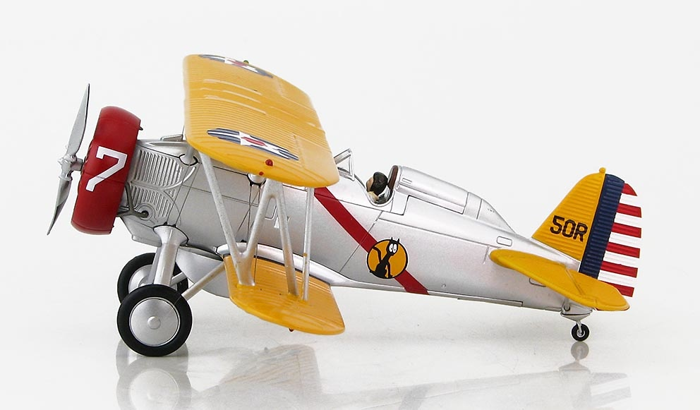 Boeing P-12E 'B' Flight Leader's aircraft, 308th Observation Sqn., Organized Reserve, circa 1939, 1:48, Hobby Master